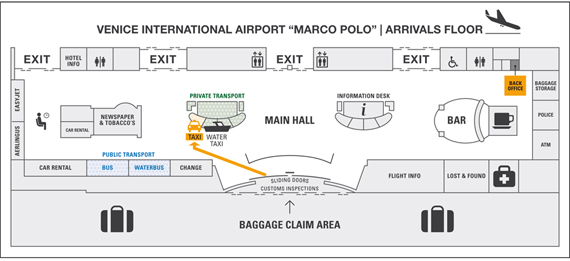 Meeting point at Marco Polo airport